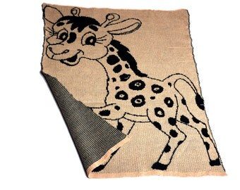 knitted baby blanket,  giraffe carseat blanket, knit newborn blanket, baby afghan, baby gift, baby shower, animal print, travel baby blanket
