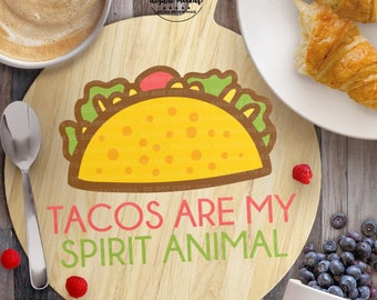 Taco svg, Taco Tuesday svg, Taco Cut File, Spirit Animal svg, Funny Quote svg, eps, dxf, png Cut Files for Silhouette for Cricut
