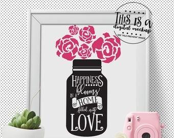 Mason Jar svg, Home Quote svg, Mason Jar Cut File, Country svg, Mason Jar Vectors, eps, dxf, png Cut Files for Silhouette for Cricut