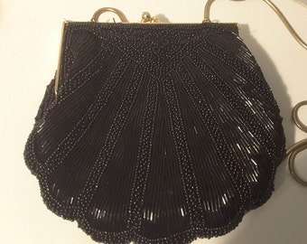 "Evening Bag Vintage Lord and Taylor Beaded ""Shell"""