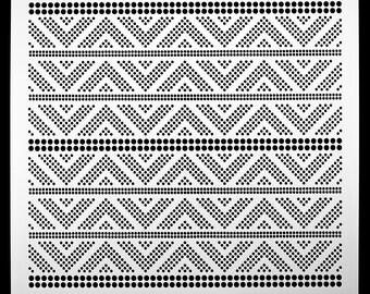 Triangle Peak Halftone.  Wall / Art / Craft / Painting / Makeup / Furniture / Tattoo / Overlay Airbrush Stencil.