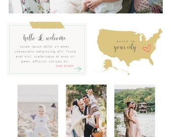 Wix Website design, wix website template, logo design, photography website design, photography logo, colorful, rainbow, website 4888