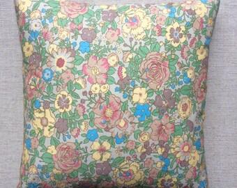 Vintage Liberty Of London Fabric Cushion 40cm x 40cm With Interior