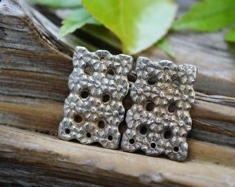 Daisy Filagree- Handmade White Copper  Components