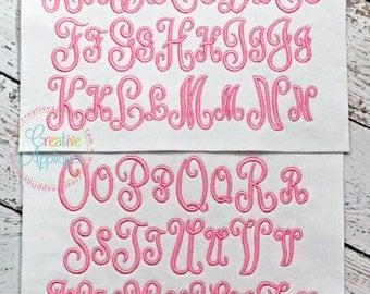6 SIZES!!! Classic Script Monogram Embroidery Font, Alphabet Font Digital Machine Embroidery Design embroidery font, elegant embroidery font
