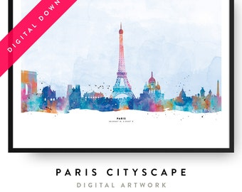 Cityscape Paris  — Digital Poster
