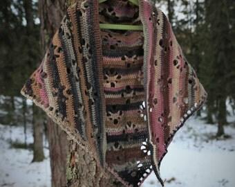 Kid's size shawl, wrap, scarf