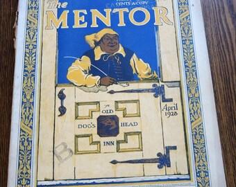 The Mentor Magazine April 1928 Vintage