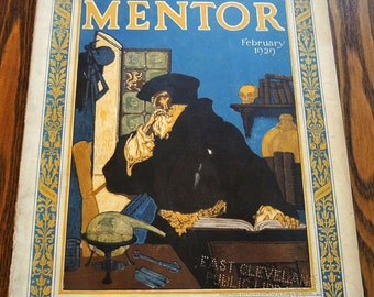 The Mentor Magazine February 1929 Vintage