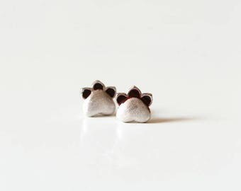 925 Silver cat cat's paws earrings- silver jewelry -cat's paw ear stud -silver paw earrings-gifts for girls/bridesmaid