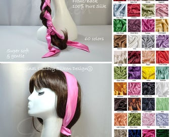skinny hair scarf for braids, braid scarf, bubble gum, natural hair care, hair bow scarf, sensitive hair care, beauty gift for her, ha5