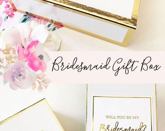 Bridesmaid Proposal Box Will You Be My Bridesmaid Box Bridesmaid Proposal Gift Will You Be My Bridesmaid Gift Box (EB3171BPW) EMPTY inside