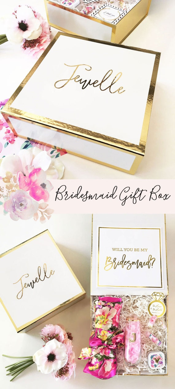 bridesmaid proposal box will you be my bridesmaid box bridesmaid proposal gift will you be my. Black Bedroom Furniture Sets. Home Design Ideas