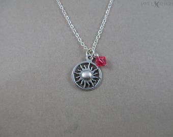 Tangled Sun Necklace - Rapunzel - Silver Charm