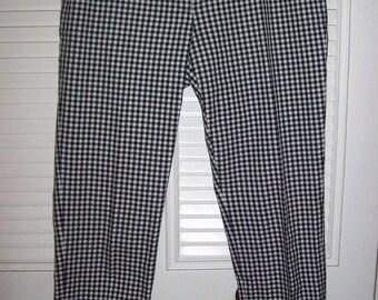 Michael Kors Checked Pants, Slightly Tapered, Vintage MK Find.  Size 8 - 10 see details