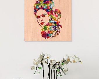 Frida Kahlo Wall Decor, Modern Art Wall Decor, Abstract Wall Art, Living Room Art, New Home Gift, Unique Wall Art, Contemporary Art