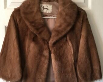 Vintage Mink Stole, Fur Stole, Mink Cape, Wedding Cape, Vintage Bridal Stole, PK