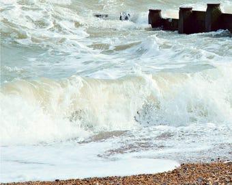 Seaside photograph, art, photography, beach, seaside art, coastal print, original print - Waves