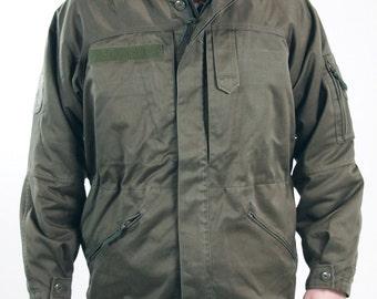 Vintage Austrian army alpine jacket military hiking coat olive khaki