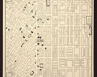 San Francisco Map San Francisco Street Map Vintage Wall Art