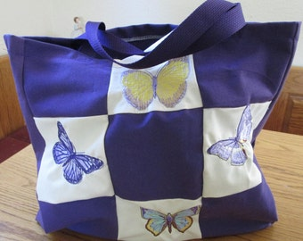Butterfly reusable market bag