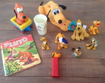 Lot of Vintage Pluto Toys and Collectibles, Lot #1, Walt Disney, Pluto