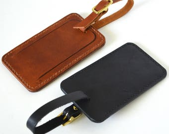Leather Luggage Tag, Personalized Luggage Tag, Travel Tag