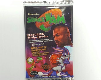 1 Pack Space Jam Looney Tunes Basketball Trading Cards wax pack