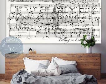 Sheet music art, Overlaping First dance sheet music notes, First dance wedding sheet music, Mixed Media, Old Music Sheet, Vintage Wall Sign