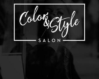 SALE Salon Logo Design, Hair Salon Logo, Beauty Salon Branding, Hair Stylist Logo, Chic Logo, Makeup Artist Logo, Makeup Logo, Box Logo
