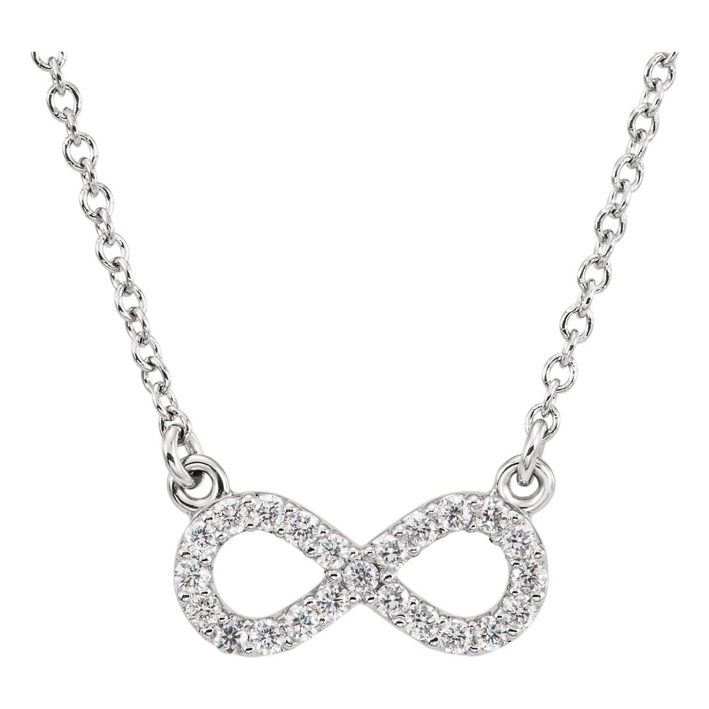 Infinity Platinum: Platinum Diamond Infinity Pendant Diamond Infinity Necklace