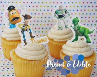 24 toy story cupcake topper, toy story topper,edible & precut, toy story, birthday topper, toy story cake topper,  edible cupcake topper