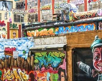 5 Pointz , NYC Graffiti, Colorful Wall Art, Graffiti Art, Street Photography, NYC Art, Living Room Art, New York Decor, Colorful Art