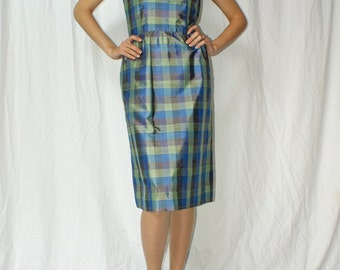 SALE 30% OFF 1950s Shantung Wiggle Dress