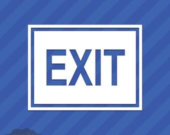 Exit Sign Vinyl Decal Sticker