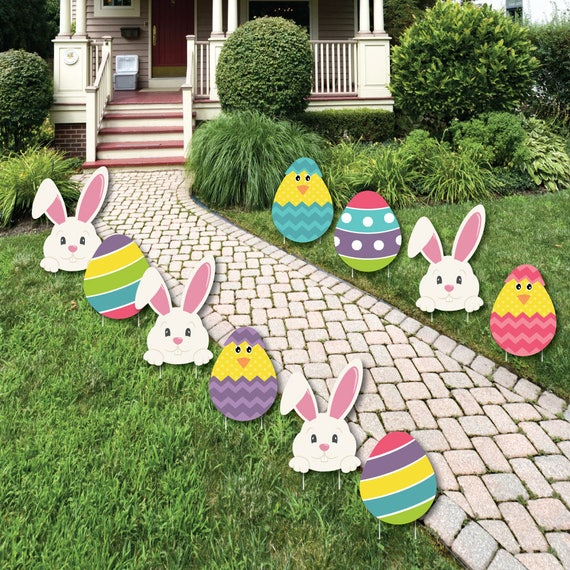 Easter bunny egg yard decorations outdoor easter lawn - Outdoor easter decorations ...