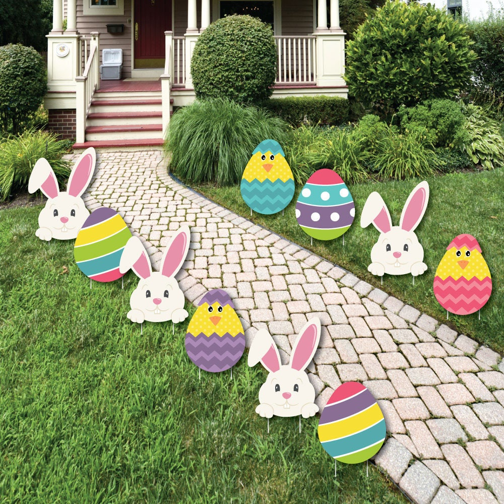 Easter decoration outdoor - Easter Bunny Egg Yard Decorations Outdoor Easter Lawn Decorations Hippity Hoppity Easter