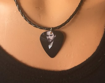 Jared Leto Guitar Pick Necklace/30 Seconds to Mars Guitar Pick/Guitar Pick Jewelry/Guitar Pick Necklace/Music Necklace/Music Jewelry