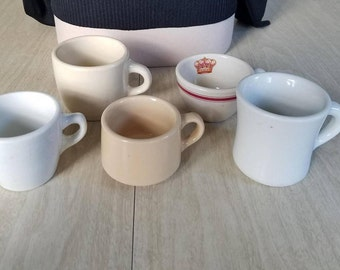Vintage Collection of Diner-Ware Coffee Cups