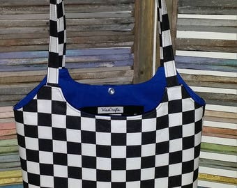 Checkered Racing Shoulder Bag
