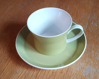 Mikasa Duplex by Ben Seibel Green Coffee Cup and Saucer