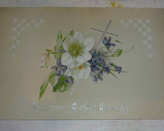 Welcome Easter Morning Antique Greeting Card