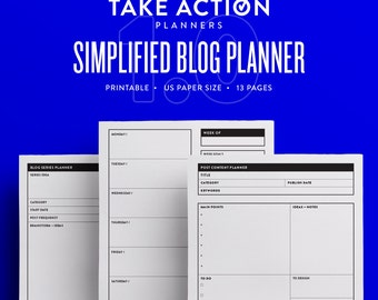 Simplified Blog Planner 1.0 / US Printable