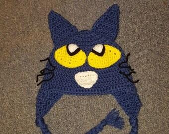 Pete the Cat Crochet Hat