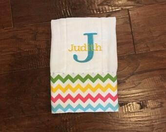 Burp Cloth. Baby Burp Cloths. Cloth diaper Burp /single diaper/Chevron - Baby Shower- Baby Gift. Newborn