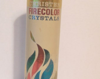 Vintage Christen Color Flame Crystals//Hearth Fire//Fire Pit//Vintage Advertising