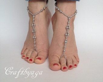 Beaded Barefoot Sandals,Barefoot sandals,Beach wedding Barefoot Sandal,Pearl Barefoot sandals,Bridal Barefoot Sandals,Wedding shoes