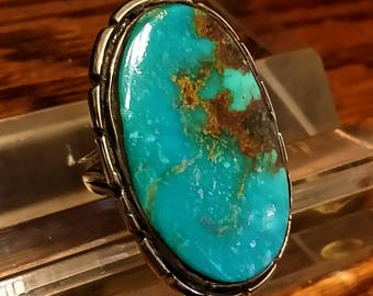 Sterling Silver and Kingman Turquoise SW Ring