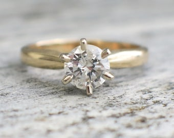 Solitaire .92 Diamond Engagement Ring