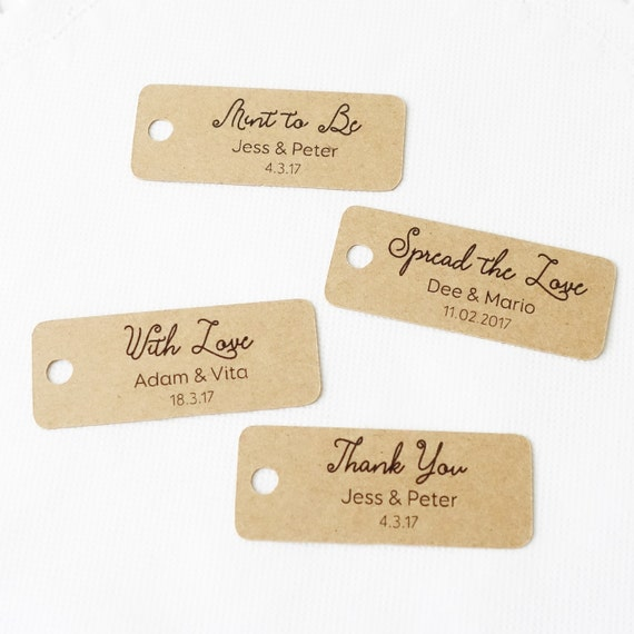 Gift Tags For Wedding Favors Australia : 30x Personalised Mini Gift Tags ~ Wedding Favour Tag ~ With Love ...